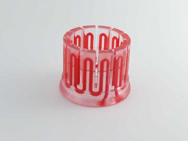 3D печат на метален детайл с охладителни канали